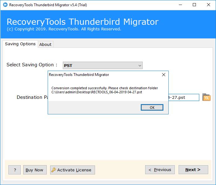 Convert Thunderbird to Outlook Directly - Thunderbird