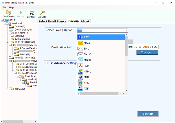 Amazon WorkMail to Outlook Migration - Import AWS to PST